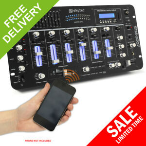 Skytec-STM-3007-6-Channel-Mixer-19-034-Rack-Mountable-Bluetooth-EQ-MP3-SD-DJ-Disco