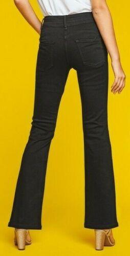 Femmes Prochain ascenseur SLIM /& forme bootcut taille haute noir Jeans UK 8,12,15