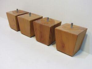 4 von 12 Couchfüße Sofafüße Holzbeine Möbelfüße Tischbeine Holzfüße H 11 cm