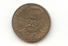 Pièce monnaie France 10 francs 1985 Victor Hugo