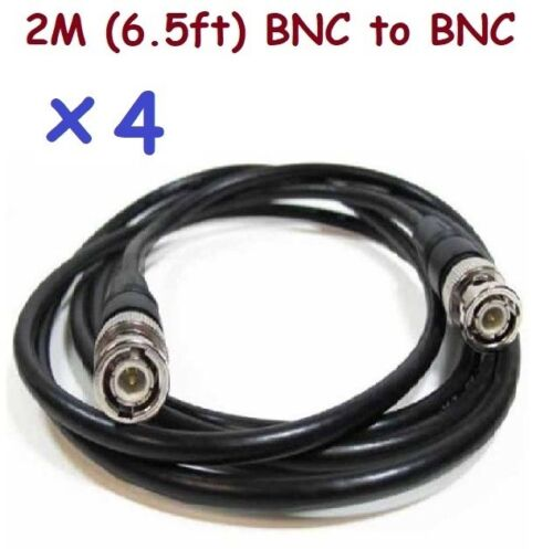 Sunvision CCTV x4 2m BNC-M to BNC-M Coaxial Conversion Cables CP09 6.5ft