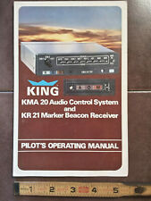 KING KMA 20// KR 21 AUDIO PANEL  INSTALLATION MANUAL