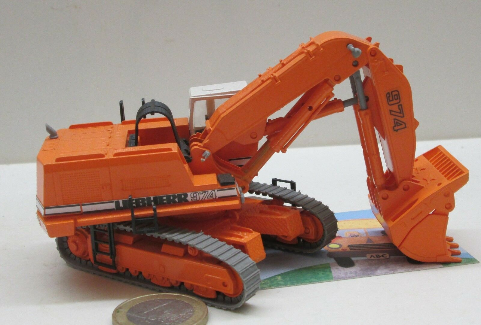 Bau017  LIEBHERR 974 chenilles Excavatrice hochlöffel, Orange  neutre (287)  économiser 35% - 70% de réduction