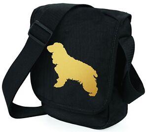 Cocker-Spaniel-Dog-Bag-Shoulder-Bags-Metallic-Gold-Silver-Black-Bag-Xmas-Gift