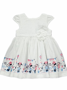 Baby Girls Dress Disney Minnie Mouse Design Sizes 0-18 Months New