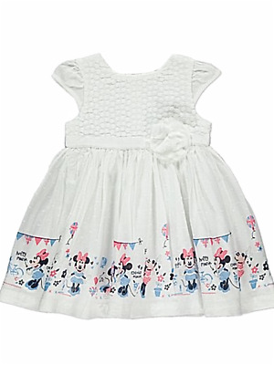 Disney Dumbo Pink Star Print Dress Baby Girls Sizes 0-18 Months