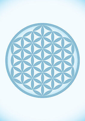 LARGE 1m FLOWER OF LIFE FOL MERKABA SPACE INSPIRATIONAL ARTWORK PRINT POSTER