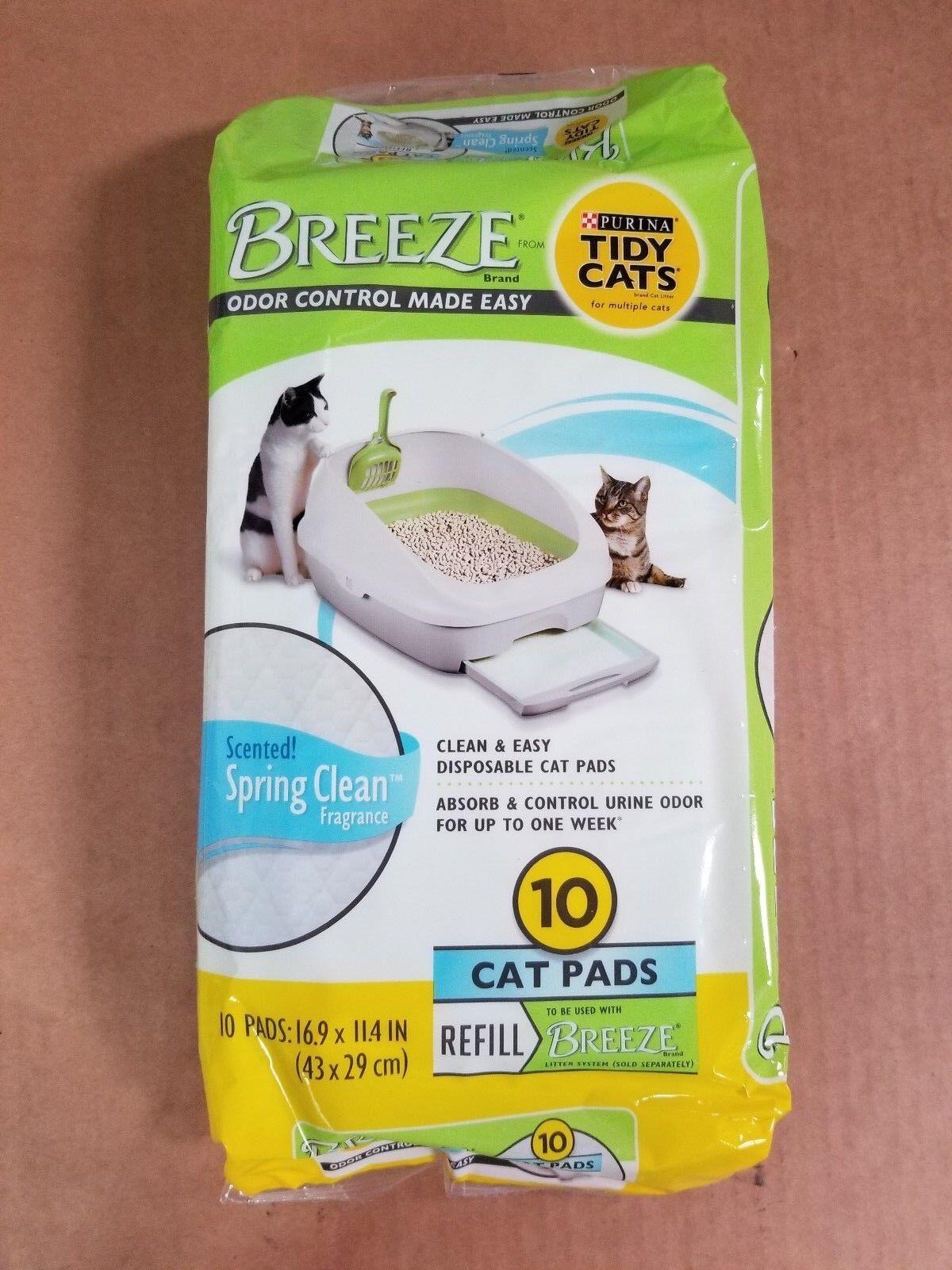 Tidy Cat Breeze Refill Pads Spring Clean Scent 10pk (6-Pack Bundle)
