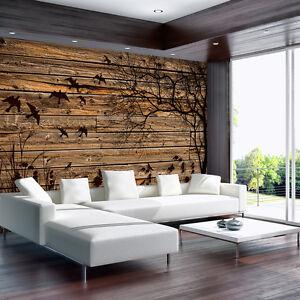 fototapete fototapeten tapete tapeten poster bild kunst holz vogel blume 3487 p8 ebay. Black Bedroom Furniture Sets. Home Design Ideas