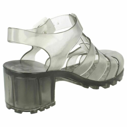 Girls Spot On Heel Jelly Sandals Shoes H3041
