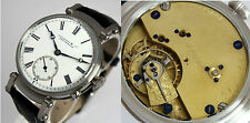 Rare Leicester & Co Twickenham XL ANTIK Präzision KALIBER ARMBANDUHR Wristwatch