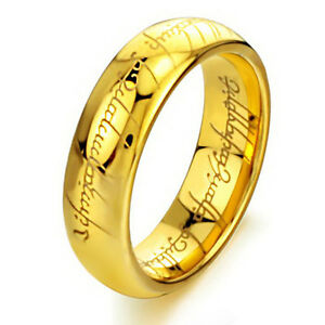 Lord-of-the-Rings-The-One-Ring-Lotr-Stainless-Steel-Fashion-Men-039-s-Ring-Size-6-13