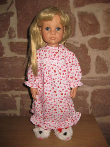 senza BAMBOLA 50 cm PIANTANA-BAMBOLA vestiti bambole 46 Camicia da notte 2046