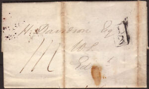 1827-PRE-STAMP-ENTIRE-LONDON-TO-EDINBURGH-WITH-ADDITIONAL-1-2d-CANCEL