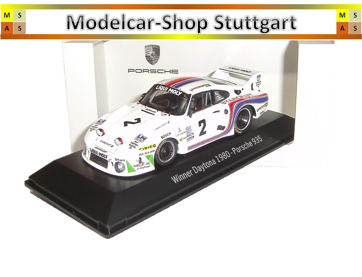 Porsche 935 Winner Daytona 1980 - Spark 1 43 - map02028014 - BRAND NEW