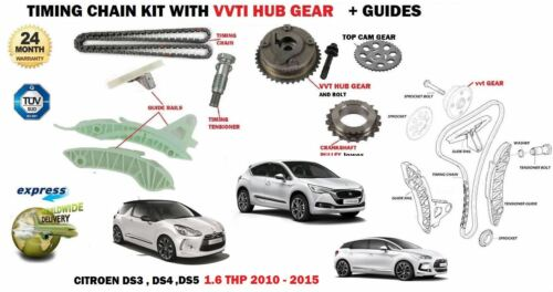 FOR CITROEN DS3 DS4 DS5 1.6 THP 5FM 5FV 5FD 2010> TIMING CHAIN KIT + VVT GEAR