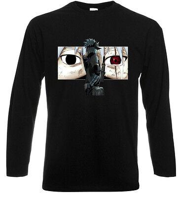 NARUTO - KAKASHI *Mangekyou Sharingan Eye Long Sleeve Black T-Shirt Size S-3XL