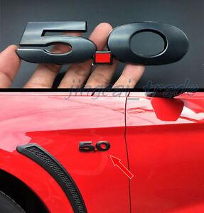 5-0L-NERO-3D-METALLO-auto-stemma-emblema-decalcomania-per-FORD-MUSTANG-GT-F150