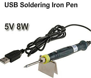 portable power electric mini usb soldering iron tools for smd work diy soldering. Black Bedroom Furniture Sets. Home Design Ideas