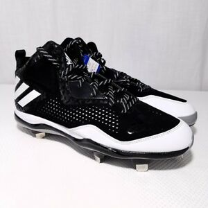 sale retailer c706a 77176 Image is loading Adidas-PowerAlley-4-Mid-Mens-Metal-Baseball-Cleats-