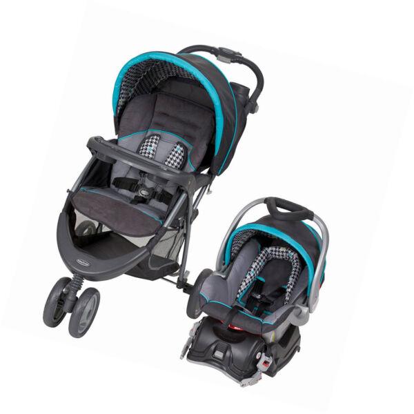 baby trend ez ride 5 hounds tooth travel system single seat stroller for sale online ebay. Black Bedroom Furniture Sets. Home Design Ideas