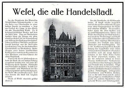 Aufrichtig Alte Handelsstadt Wesel Reklame 1925 Werbung