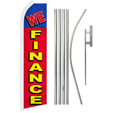 We Finance Swooper Advertising Feather Flutter Flag Pole Kit Financing Dealers