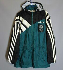 LIVERPOOL ANFIELD ENGLAND 1995 1996 RAIN TRAINING JACKET ADIDAS SIZE S