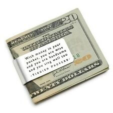 Custom Made Yiddish Proverb Money Clip