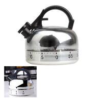 Creative Teapot Mechanical Kitchen Cooking Alarm Timer Reminder 60 Minute Tools