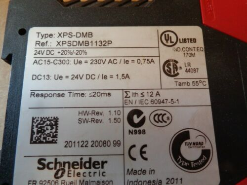 Schneider Electric XPS-DMB Safety Relay XPSDMB1132P