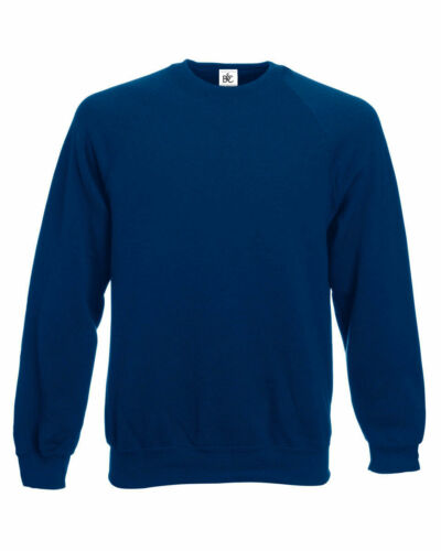 Original B/&C Mens Sweatshirt Raglan Crew Neck Pullover Top