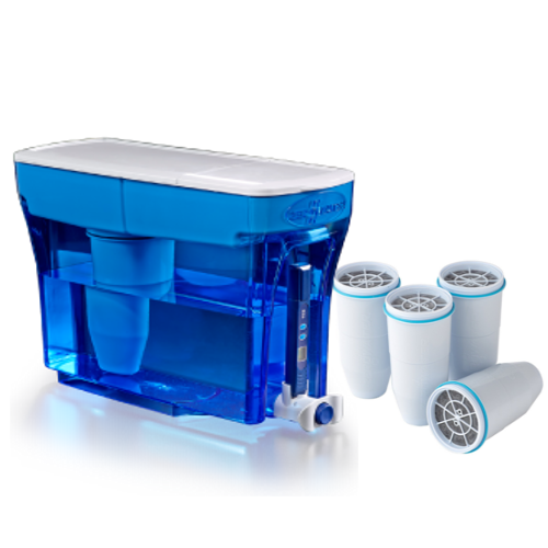 Zerowater 23 cup dispenser with four filters