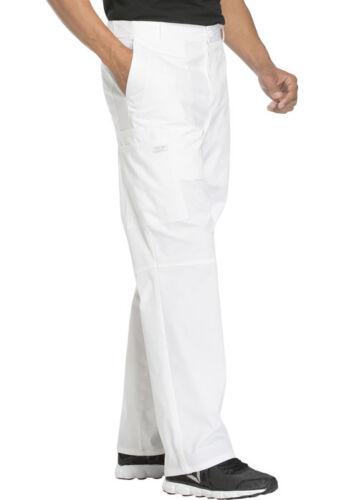 Cherokee Workwear Men Scrubs Fly Front Pant WW200 WHTW White Free Shipping