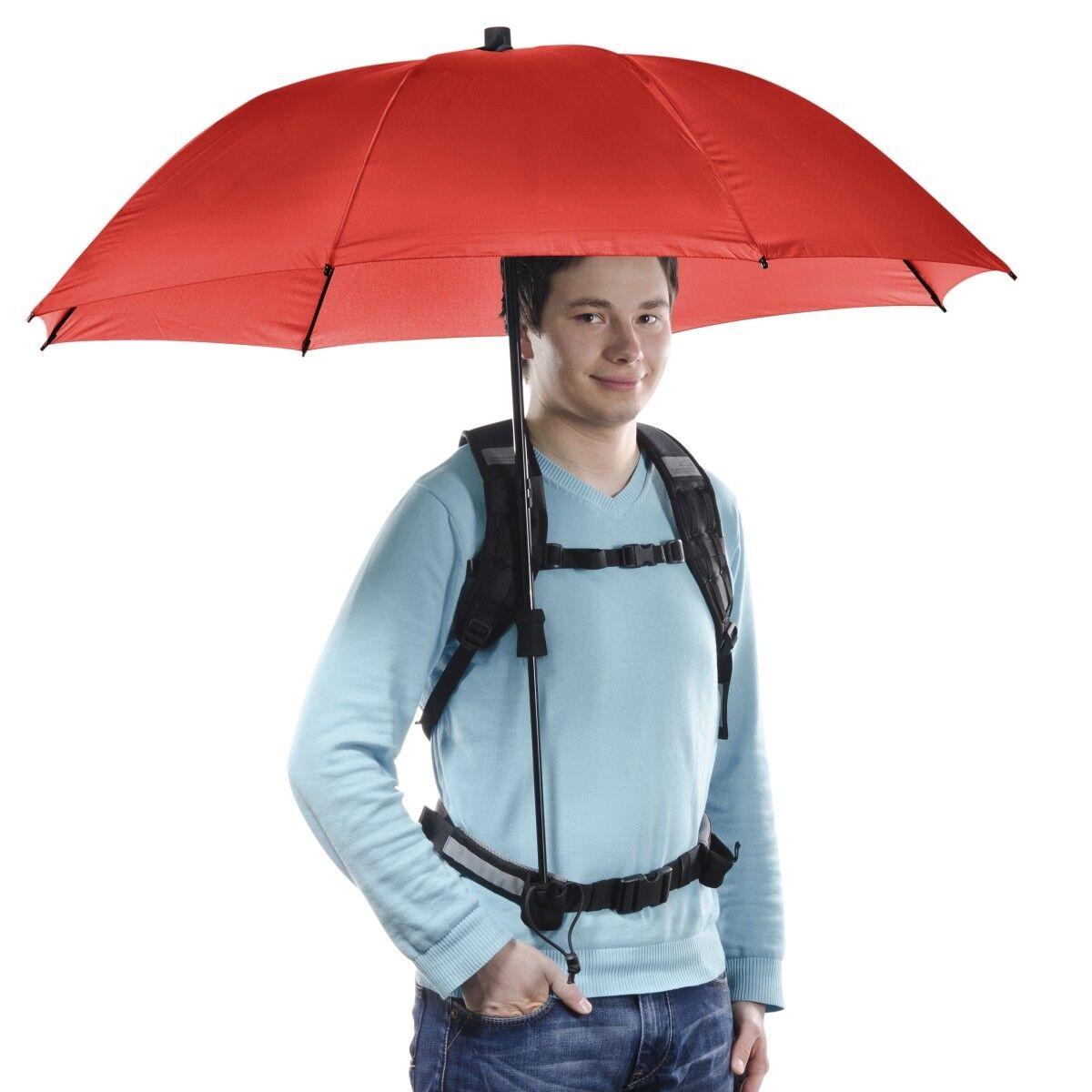 Walimex Pro Swing Hegratuito ombrello a uomoo libera ombrello rosso con supporto per il trasporto
