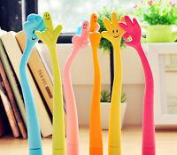 6PCS Lovely Kawaii Ballpoint Pen Cute Smiling Gesture Flexible Pen