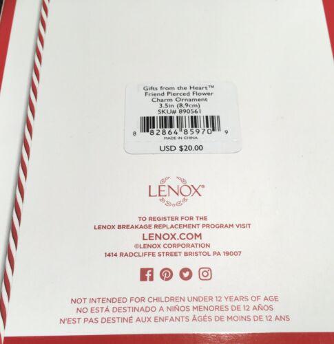 Lenox Friend Ornament Gift Charm NIB