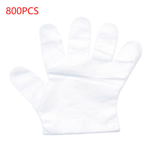 800//1000 PCS Plastic Clear Einweghandschuhe Catering Schutzisolationshandschuhe