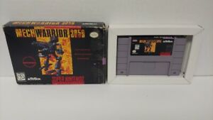 Mechwarrior 3050  SNES Super Nintendo AUTHENTIC Tested Working Game
