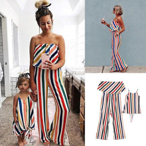 979f04f4ce Details about Mother and Daughter Clothes Parent-child dress Family  Matching Outfits Baby Girl