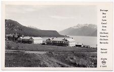 Frashers Fotos RPPC Portage Bay & Lynn Canal from Port Chilkoot, Alaska~106892