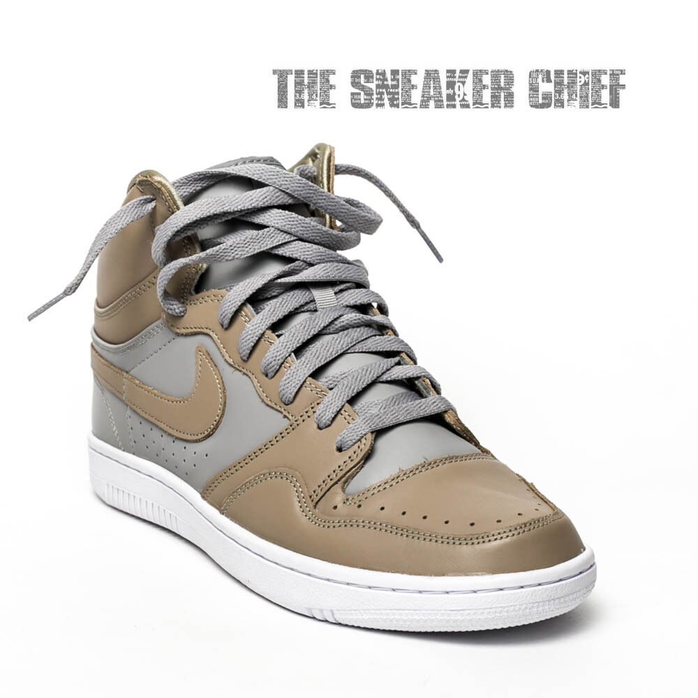 NIKE COURT FORCE UNDERCOVER MEN'S CASUAL SHOES SIZE: 10 BAMBOO GREY 826667 220