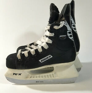 Bauer-Impact-100-Junior-Ice-Hockey-Skates-SZ-1R-Shoe-SZ-US-2-EUR-33-5-TUUK-Blade