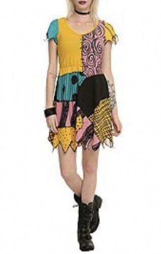 Disney Nightmare Before Christmas Sally Patchwork T-Shirt Dress Size XL
