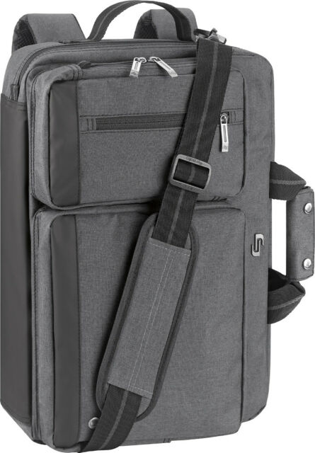 Solo Duane Laptop Hybrid Messenger Briefcase Convertible To Backpack Grey For Sale Online Ebay