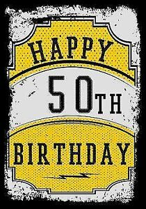 Details About Happy 50th Birthday Birthday Gifts For Men Birthday Journal Notebook For 5