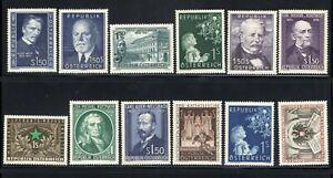JL-Austria-Stamp-587-598-Mint-OG-NH-H-A13