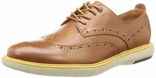 Clarks Mens Flexton Wing Tip braun Leather Lace Up schuhe, UK 9,