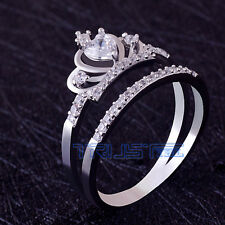 New Size 10 Women's Crown Ring  Material copper AAA Grade Zircon gift Jewelry
