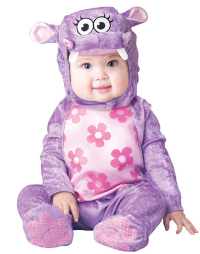 Huggable Hippo Purple Pink Flower Infant Halloween Costume